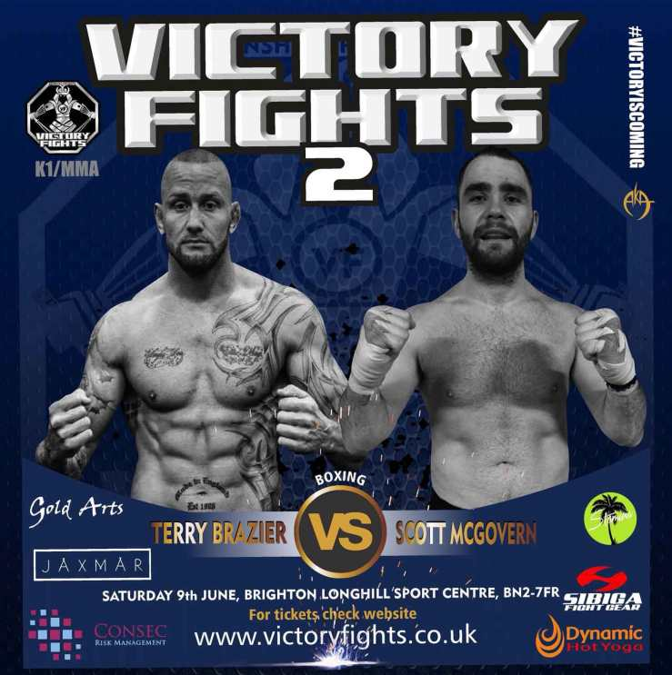 Terry Brazier vs Scott McGovern boxing match at Victory Fights Brighton