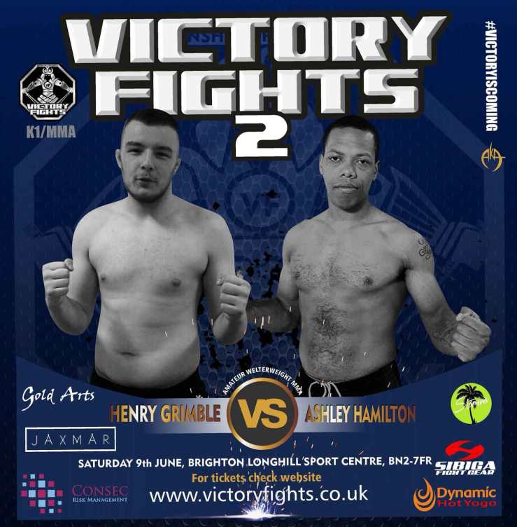 Henry Grimble Vs Ashley Hamilton at Victory Fights Brighton