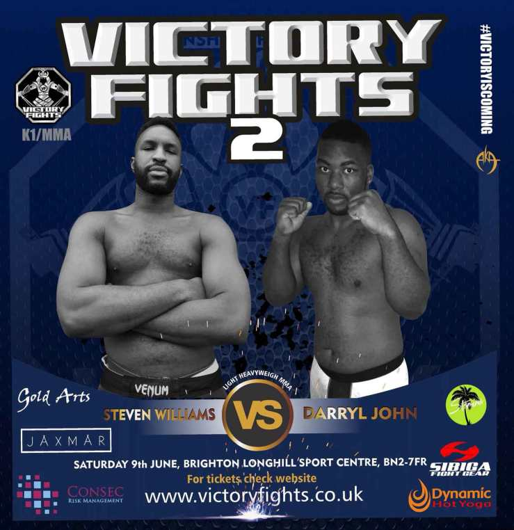 Steven Williams vs Darryl John MMA fight Victory Fights Sussex