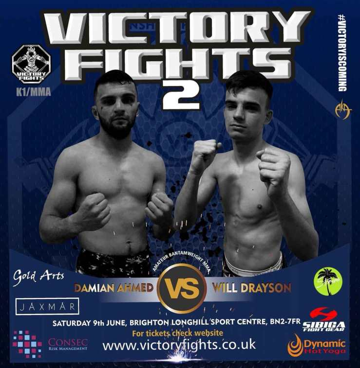 Damian Ahmed Vs Will Drayson Amateur Bantamweight MMA at Victory Fights Brighton Sussex
