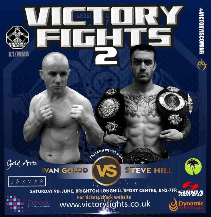 Ivan Golod Vs Steve Hill pro MMA Victory Fights Brighton