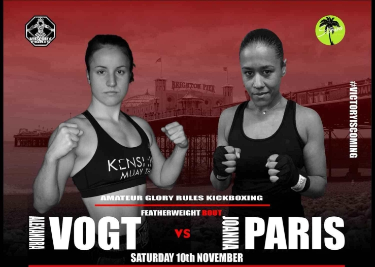 Alex Vogt vs Joana Paris Victory Fights 3 Kickboxing Brighton
