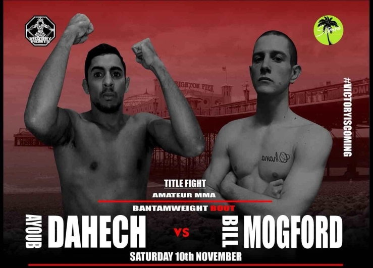 Ayoub Dahech vs. Bill Mogford MMA Title fight victory fights brighton sussex