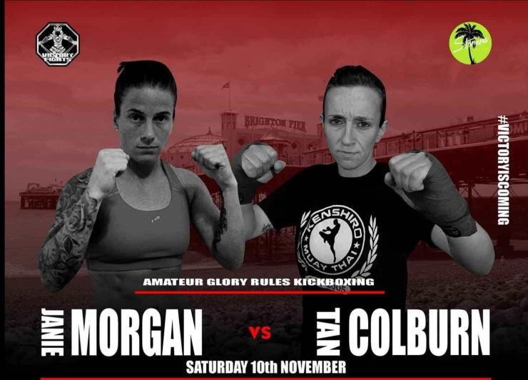 Janie Morgan vs Tan Colburn Kickboxing Victory Fights 3 Brighton