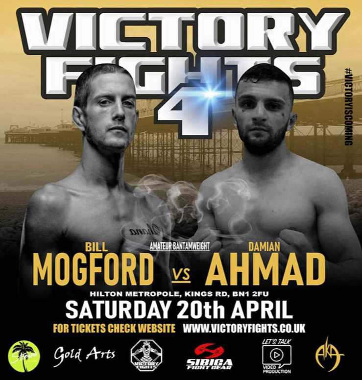Bill Mogford Vs Damian Ahmad Victory Fights 4 Brighton Sussex