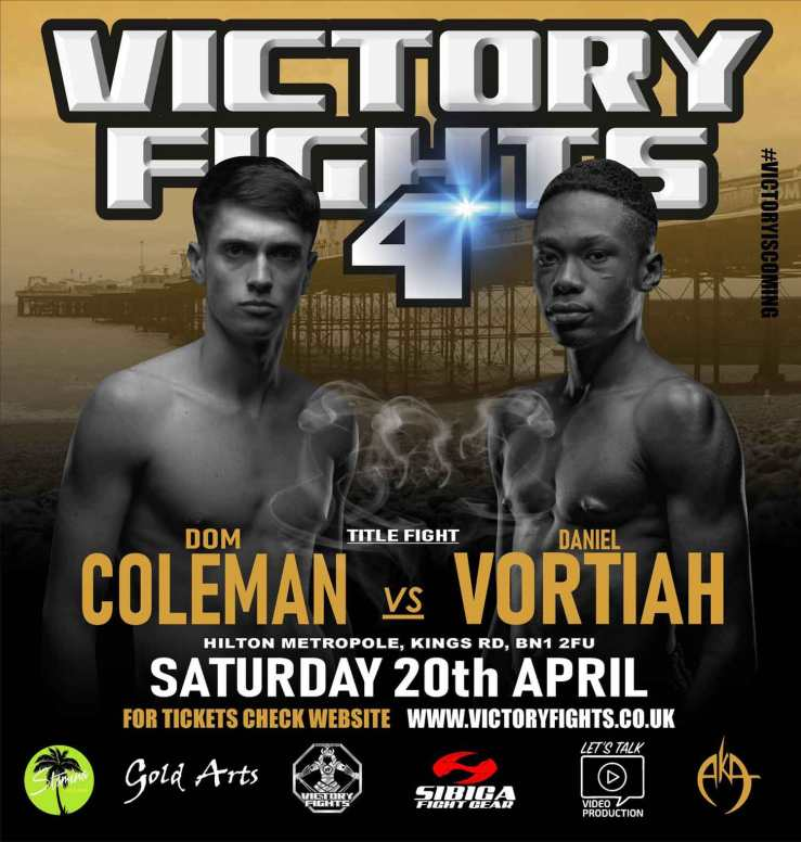 Dom Coleman Vs Dan Vortiah Title Fight Victory Fights 4 Brighton