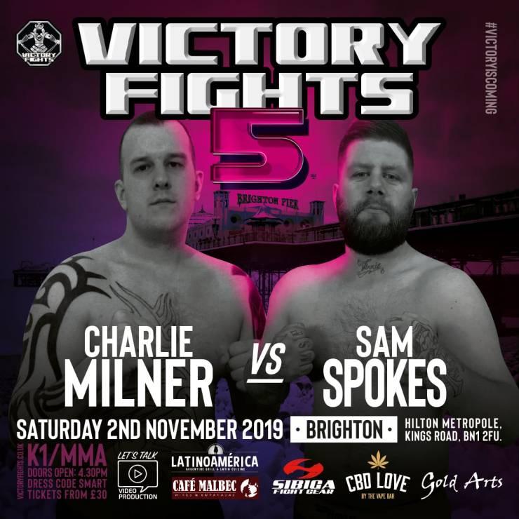 Charlie Milner vs Sam Spokes Victory Fights 5